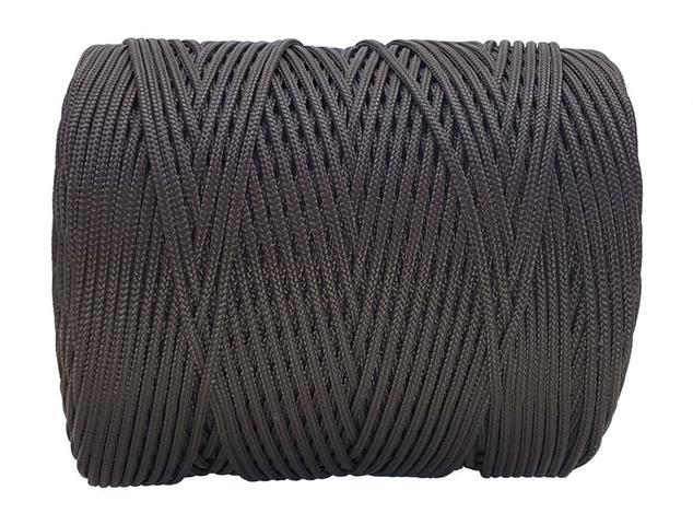 Imagem de Corda Trançada 2,5 mm Marrom rolo com 286 metros-Cordaville