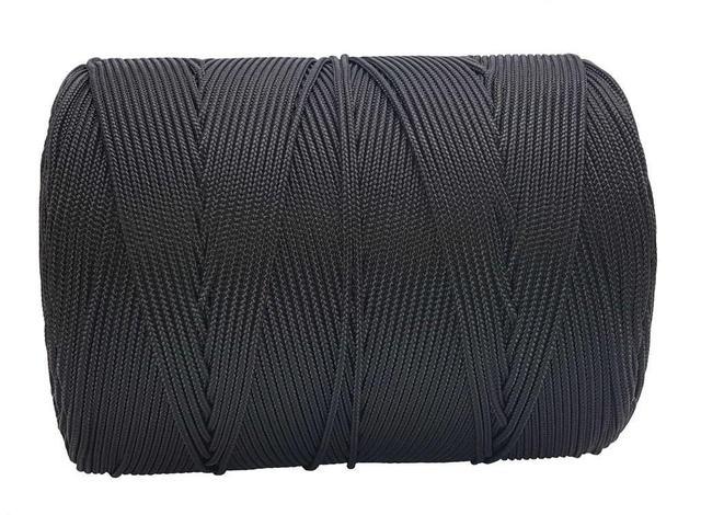 Imagem de Corda Trançada 3,5 mm Preta rolo com 149 metros-Cordaville