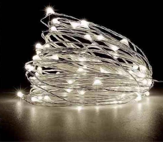 Imagem de Cordão de Cobre Luz de Fada 2 Metros 20 Leds Branco Frio