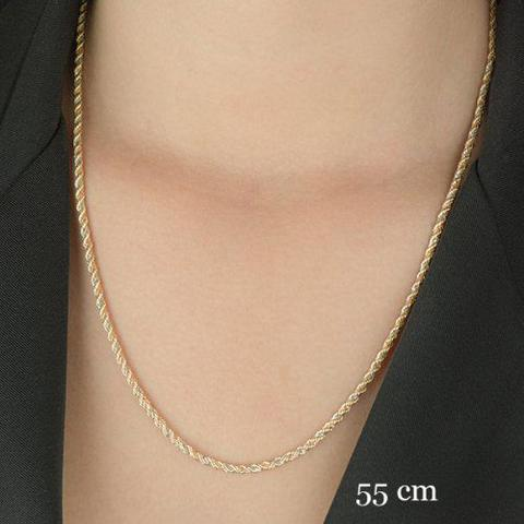 Imagem de Corrente de Ouro 18k Cordão Tricolor 2,6mm com 50cm CO02031 459b4b2520