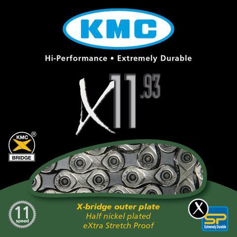 Imagem de Corrente KMC X11.93 11 Velocidades Prata