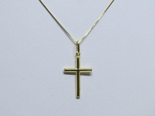 6b78782e56e27 Corrente Veneziana 45cm Pingente Crucifixo Joia Ouro 18k 75 - Total ...