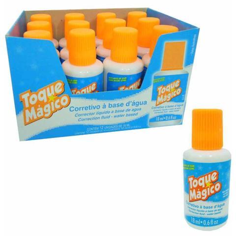 Imagem de Corretivo liquido base agua toque magico / 12un / helios