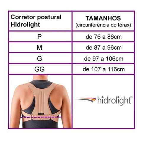 Imagem de Corretor de Postura Unissex - Tamanho M - Hidrolight OR1007