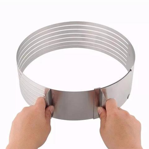 Imagem de Cortador de bolo aro 20 cm ajustável 6 Camadas