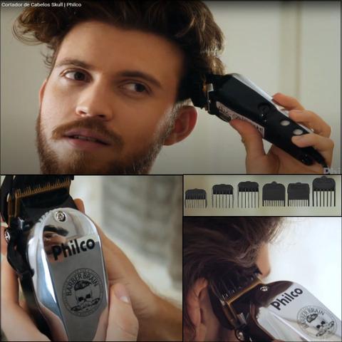 Imagem de Cortador de cabelos 14w profissional e tesoura desbaste nfe