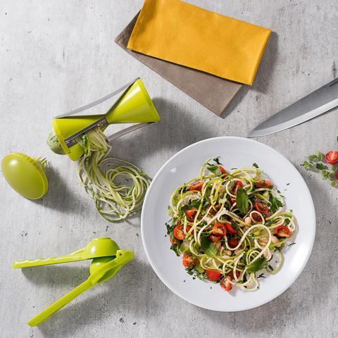 Imagem de Cortador de Vegetais Legumes Espiral Spiral Fatiador Espaguete Brinox