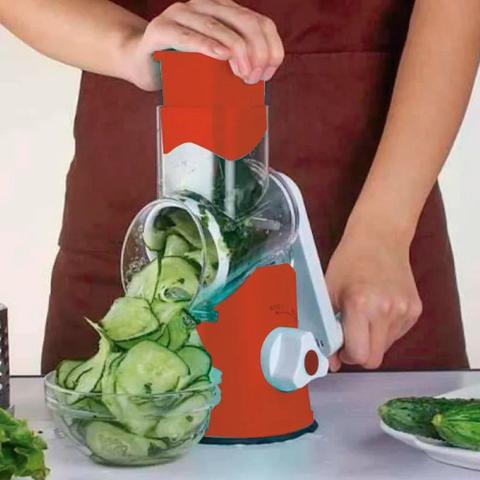 Imagem de Cortador E Ralador De Legumes Verduras E Queijos 3 Laminas