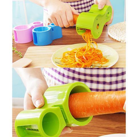 Imagem de Cortador Fatiador de Legumes Duplo Espaguete Afiador de Faca
