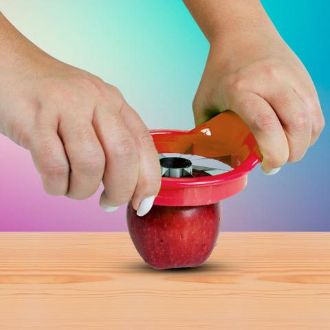 Imagem de Cortador Fatiador de Maçã Frutas Smart Kitchen Vermelho