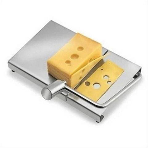 Imagem de Cortador Fatiador Manual Com Fio Em Aço Inox Para Queijos Frios Legumes Manteiga Multifuncional