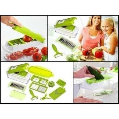 Imagem de Cortador Fatiador Processador De Alimentos Para Frutas Nicer Dicer