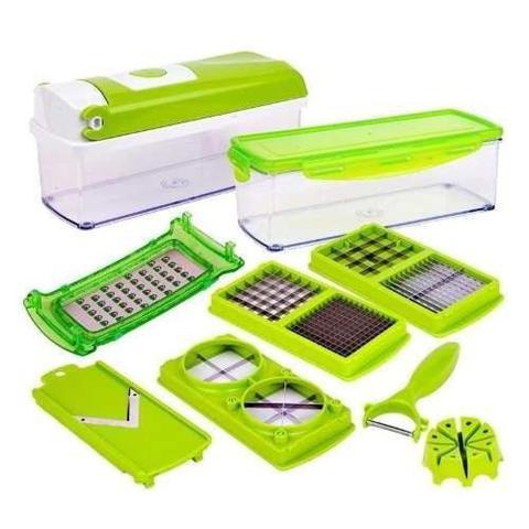 Imagem de Cortador Nicer Dicer Plus Fatiador Manual Processador Legumes Verduras 11 em 1