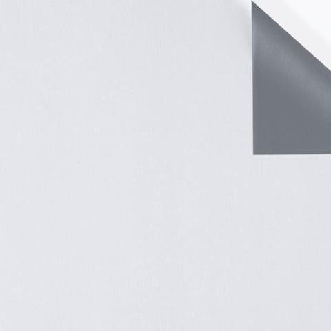 Imagem de Cortina Blackout Corta Luz Plástico PVC p/ Trilho 1,30x2,30m  Branco/Cinza - Bella Janela
