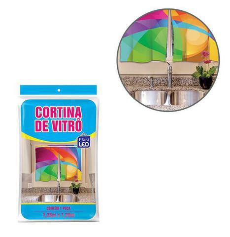 Imagem de Cortina De Vitro Janela De Plastico Para Cozinha Estampa Sortidas 135X120Cm