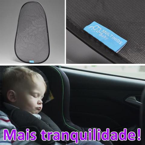 Imagem de Cortina Janela Carro Parasol Duplo Protetor Vidro Com 2 Un.