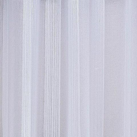Imagem de Cortina Linho Bordado Sala Quarto 4,00m x 2,75m  Ilhós Cromado - Branco