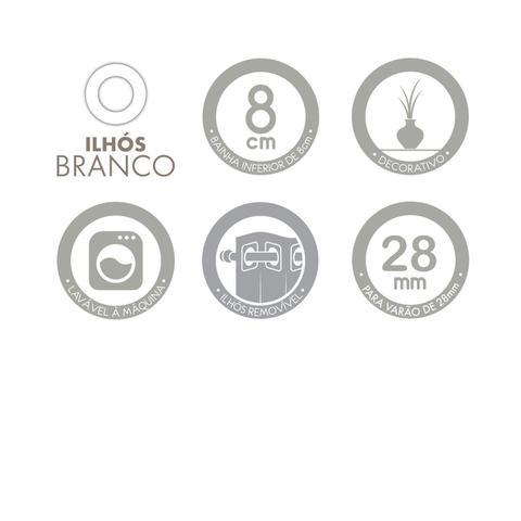 Imagem de Cortina Longa Efeito Rajado Cusco Santista - Janelas até 3 metros - Cinza
