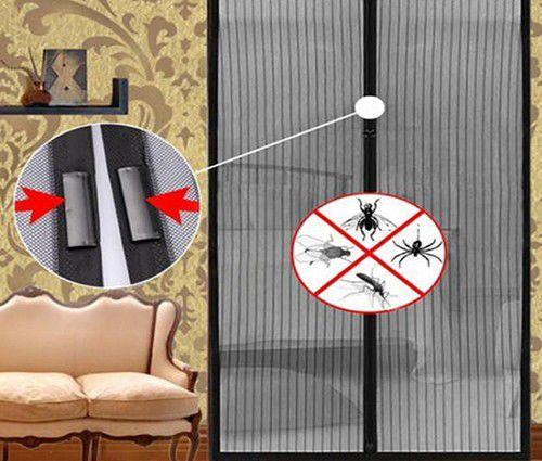 Imagem de Cortina Mosquiteiro Tela Protecao Contra Insetos Mosquito Magic Mesh