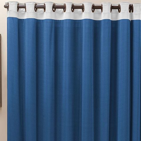 Imagem de Cortina para Janela 2,00m x 1,70m Beatriz Malha Tecido Azul