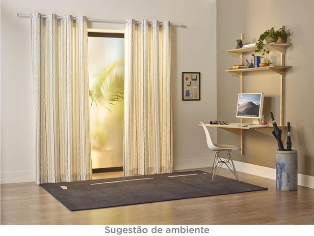 Imagem de Cortina para Sala Cinza Santista
