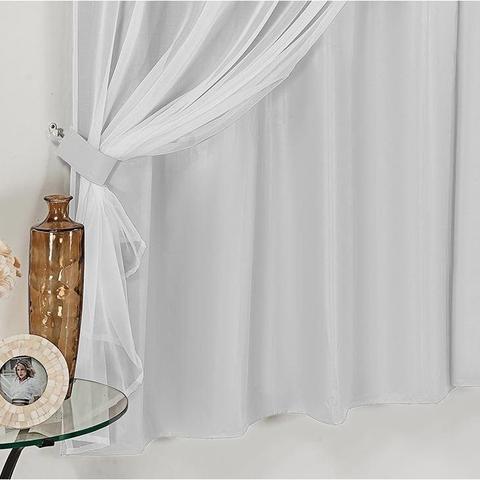 Imagem de Cortina Para Sala De Voal E Blecaute Plástico 4,00 x 2,50 em Cores