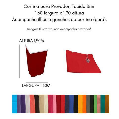 Imagem de Cortina para Varão Comércio Tecido Brim 1,60x1,90 Roupa Estampada Jornal Preto Trocador Provador