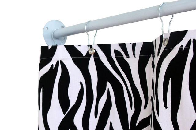 Imagem de Cortina para Varão Comércio Tecido Brim 1,60x1,90 Roupa Estampada Zebra Trocador Loja Provador