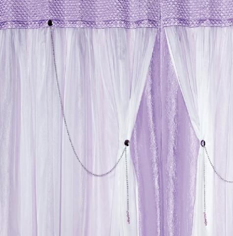 Imagem de Cortina Princesinha Re9casa para Quarto Infantil 2,00x1,70m - Cor Lilás