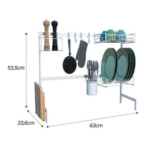 Imagem de Cozinha Autossustentável Com Escorredor de Louça Luxo 63cm