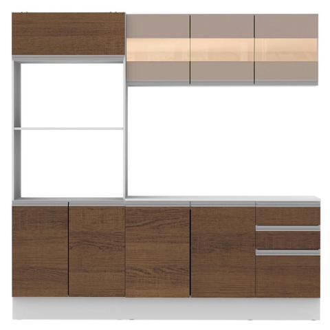 Imagem de Cozinha Compacta 100% MDF Madesa Smart 190 cm Com Armário, Balcão e Tampo