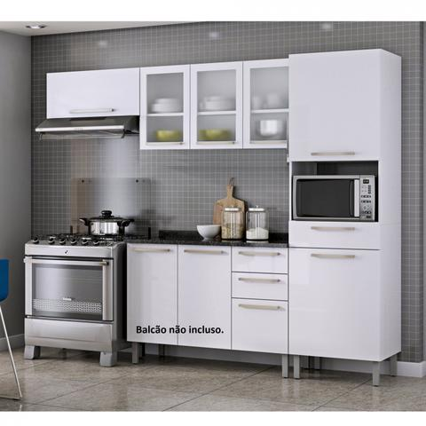 Imagem de Cozinha Compacta 3 Peças sem Balcão Dandara Itatiaia Branco