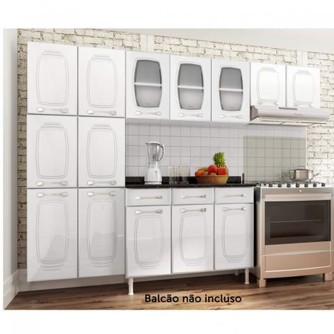 Imagem de Cozinha Compacta 3 Peças sem Balcão Novitá Telasul Branco