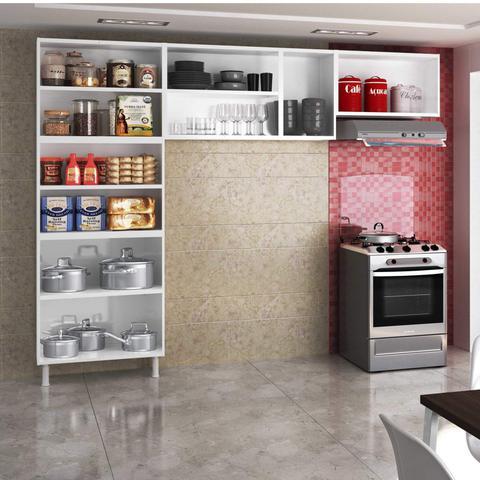 Imagem de Cozinha Compacta 3 Peças sem Balcão Safira Telasul Branco