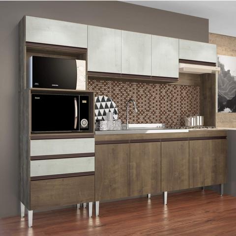 Imagem de Cozinha Compacta 4 Peças 268 Ariel Casamia (Não Acompanha Pia e Torneira) Dark Snow
