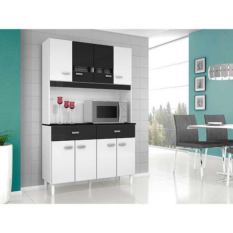 Imagem de Cozinha Compacta 8 Portas e 2 Gavetas Manu - Poquema