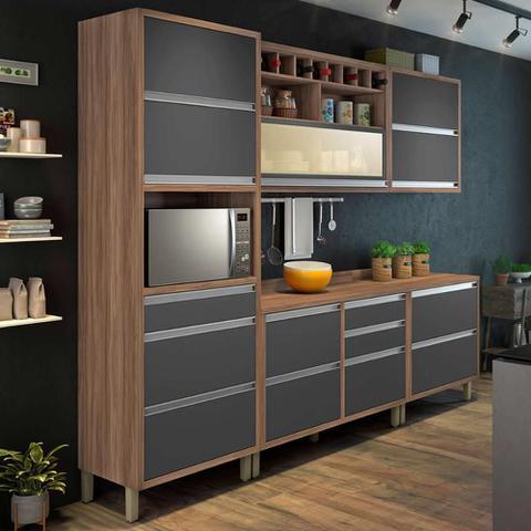 Imagem de Cozinha Compacta Baronesa 1 - Grafite - Nesher
