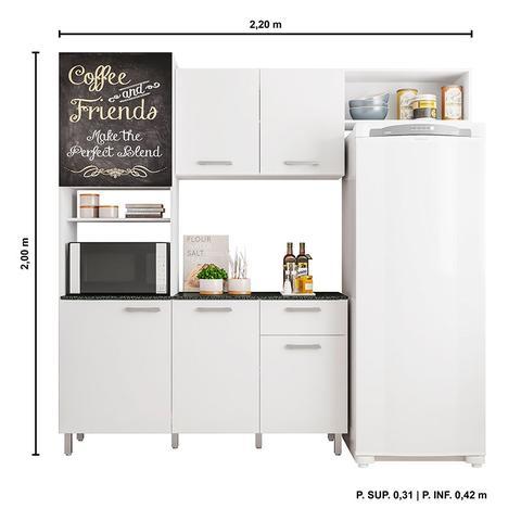 Imagem de Cozinha Compacta com 6 Portas Giulia - Poliman