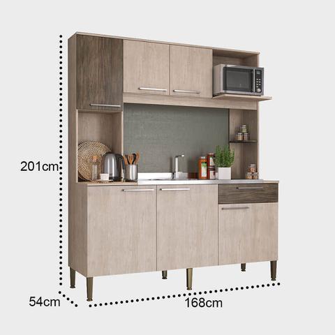 Imagem de Cozinha Compacta Completa Com Nicho para Forno Lilies Móveis