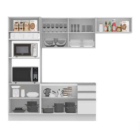 Imagem de Cozinha Compacta Glamy 8 PT 3 GV Branca
