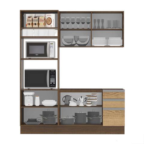 Imagem de Cozinha Compacta Glamy II 7 PT 3 GV Rustic e Saara