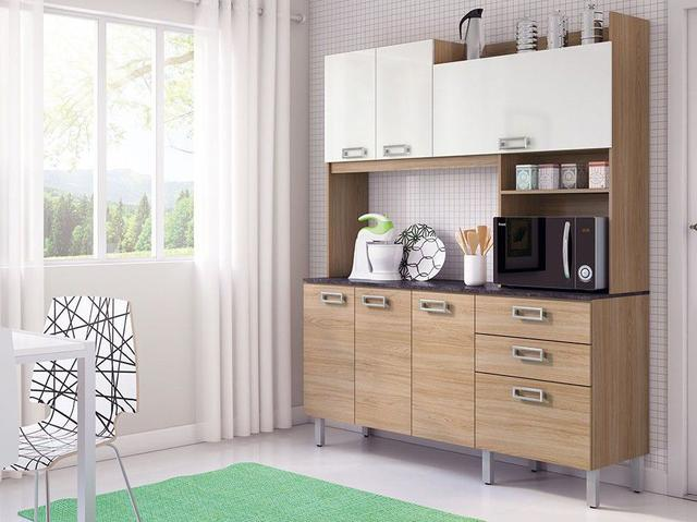 Imagem de Cozinha Compacta Itatiaia Açaí com Balcão