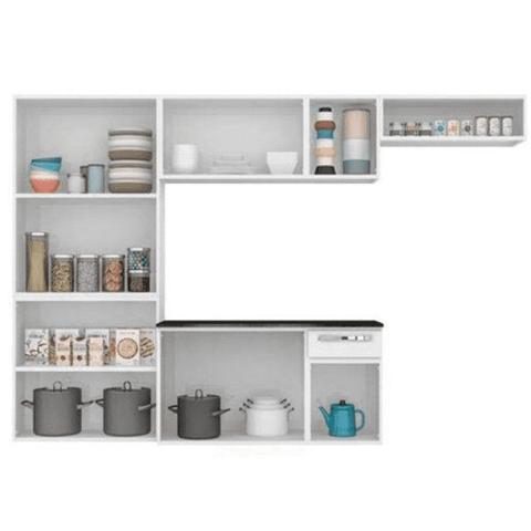 Imagem de Cozinha Compacta Itatiaia Amanda - Branco/Preto
