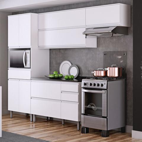 Imagem de Cozinha Compacta Itatiaia Belíssima Plus 3 Peças 7 Portas Branco