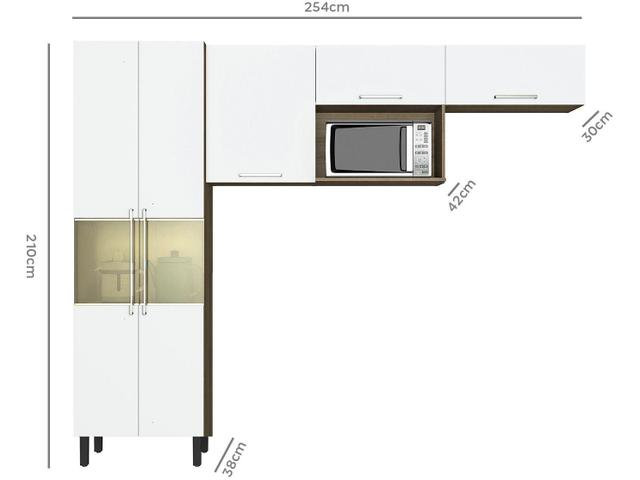 Imagem de Cozinha Compacta Itatiaia Madeira Lya