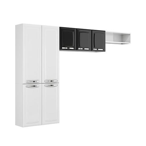 Imagem de Cozinha Compacta Itatiaia Rose 7 Portas Branco E Preto