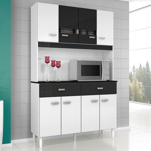 Imagem de Cozinha Compacta Kit Manu 8 Portas 2 Gavetas em MDP Poquema