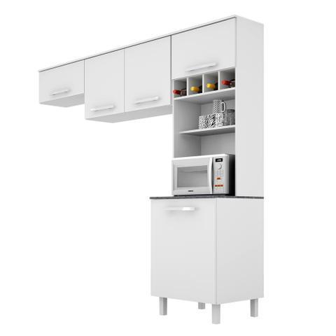 Imagem de Cozinha Compacta Lorena 5 PT Branco