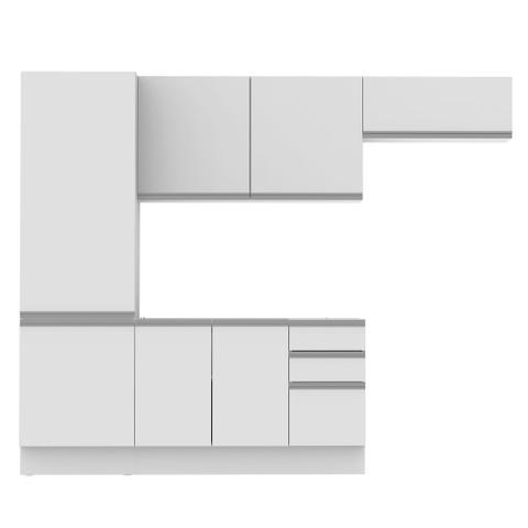Imagem de Cozinha Compacta Madesa 100% MDF Acordes Glamy 2 gavetas 8 Portas (Sem Tampo e Pia)