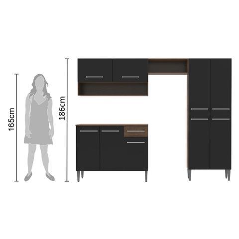 Imagem de Cozinha Compacta Madesa Emilly Com Armário e Balcão